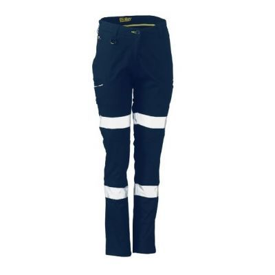 BISLEY WOMENS TAPED MID RISE STRETCH COTTON PANTS